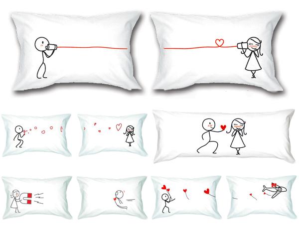 Federe Per Cuscini San Valentino.Federa Cuscino Personalizzata Decorazione